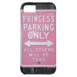Muestra divertida de princesa Parking Only iPhone 5 Coberturas
