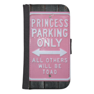 Muestra divertida de princesa Parking Only Funda Billetera Para Teléfono
