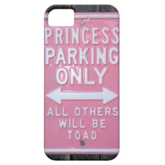 Muestra divertida de princesa Parking Only iPhone 5 Carcasa