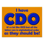 Muestra divertida del poster de CDO OCD