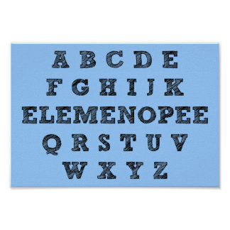 Muestra divertida del poster del alfabeto de