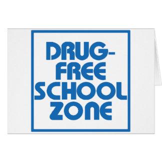 Muestra Droga-Libre de la zona de la escuela Tarjeton
