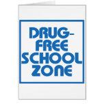 Muestra Droga-Libre de la zona de la escuela Tarjetas