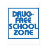 Muestra Droga-Libre de la zona de la escuela Tarjetas Postales