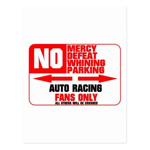 Muestra el competir con auto del estacionamiento p tarjetas postales