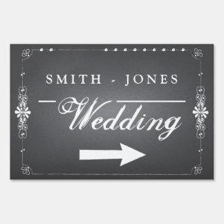 Muestra el del boda de la pizarra personalizado