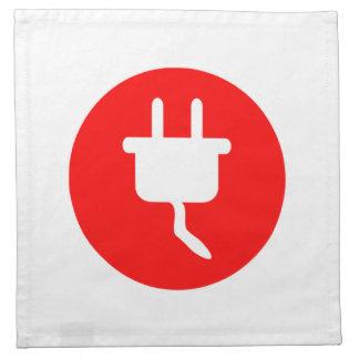 Muestra eléctrica del enchufe servilletas de papel