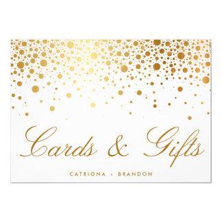 """Muestra elegante de las tarjetas y de los regalos invitación 5"""" x 7"""""""