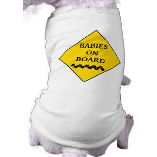 Muestra embarazada de la Perro-Precaución Camisetas De Perrito