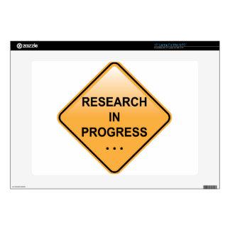 Muestra en curso de la investigación calcomanía para 38,1cm portátil