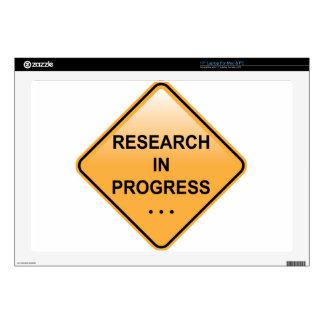 Muestra en curso de la investigación portátil calcomanía