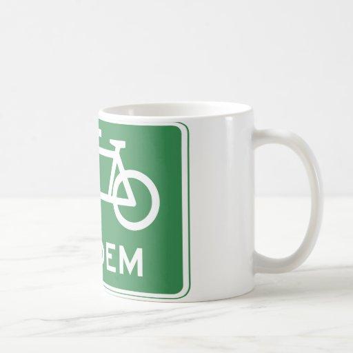 Muestra en tándem de la bicicleta taza