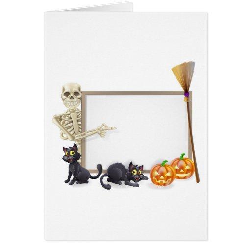 Muestra esquelética de Halloween Felicitacion