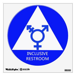Muestra/etiqueta inclusivas del lavabo del género vinilo