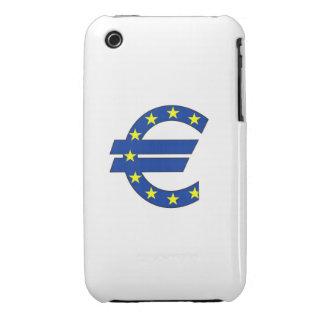 muestra euro del dinero del símbolo de moneda iPhone 3 cárcasas
