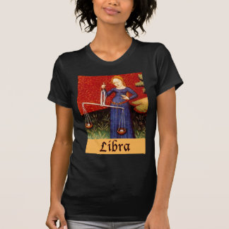 Muestra exótica del zodiaco del libra camiseta