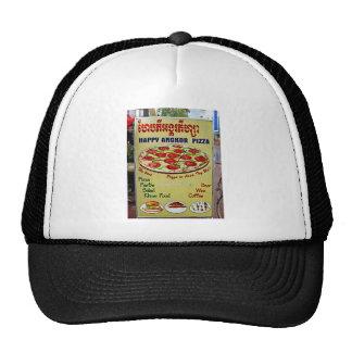 Muestra feliz de la pizza de Angkor Gorras De Camionero