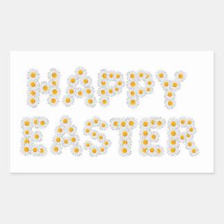 Muestra feliz de Pascua Pegatina Rectangular