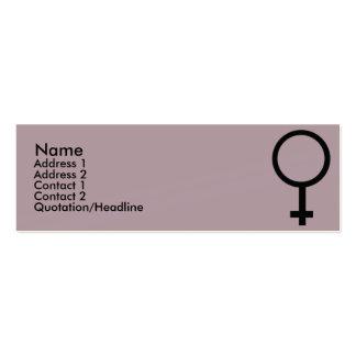 Muestra femenina - flaca tarjetas de visita mini