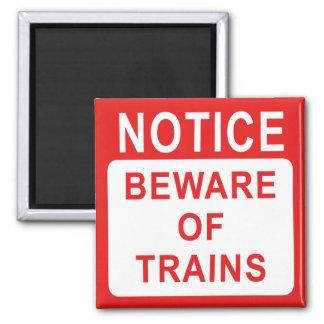 Muestra ferroviaria imán cuadrado