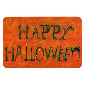 """Muestra figural del """"feliz Halloween"""" del imán de"""
