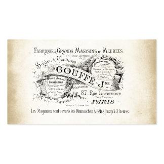 Muestra francesa del almacén grande tarjetas de visita