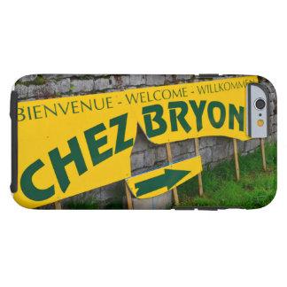 muestra francesa retra del restaurante funda para iPhone 6 tough