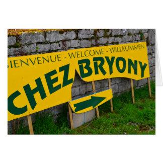 muestra francesa retra del restaurante tarjeta de felicitación
