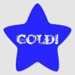muestra fría de la estrella azul calcomanías forma de estrellas