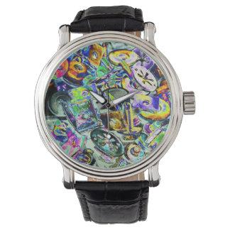 Muestra garaje psicodélico relojes de pulsera