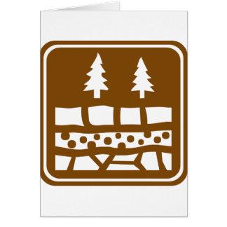 Muestra geológica de la carretera de la atracción tarjeta de felicitación
