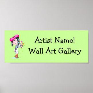 Muestra hecha por encargo de la galería de arte impresiones