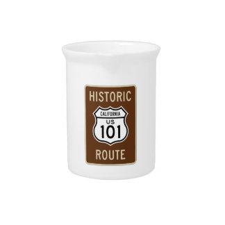 Muestra histórica de la ruta 101 de los E E U U d Jarras Para Bebida