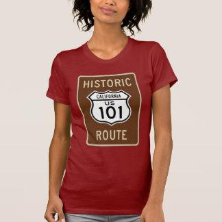 Muestra histórica de la ruta 101 de los E.E.U.U. Playera