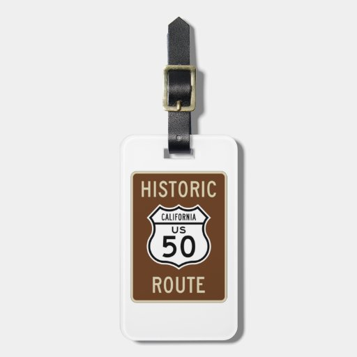 Muestra histórica de la ruta 50 de los E.E.U.U. de Etiquetas De Maletas