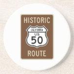 Muestra histórica de la ruta 50 de los E.E.U.U. de Posavaso Para Bebida