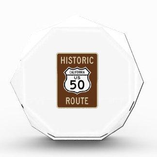 Muestra histórica de la ruta 50 de los E E U U de
