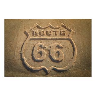 Muestra histórica de la ruta 66, Arizona Cuadro De Madera