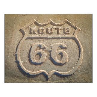 Muestra histórica de la ruta 66, Arizona Impresión En Madera