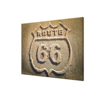 Muestra histórica de la ruta 66, Arizona Impresiones De Lienzo