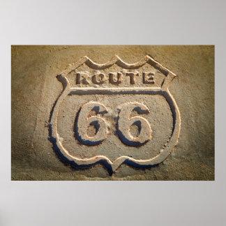 Muestra histórica de la ruta 66, Arizona Póster