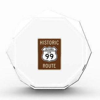 Muestra histórica de la ruta 99 de los E E U U de