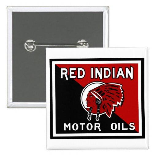 Muestra india roja del vintage de los aceites de m pin cuadrada 5 cm