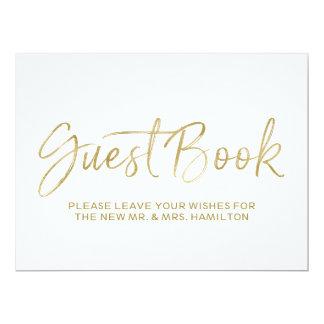 """Muestra indicada con letras del boda del libro de invitación 6.5"""" x 8.75"""""""