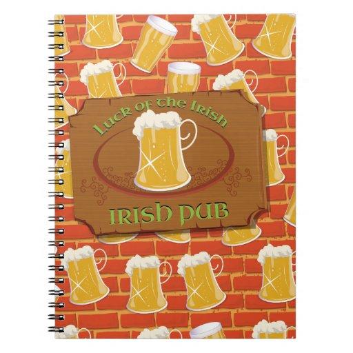 Muestra irlandesa del Pub Cuaderno