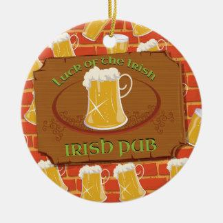 Muestra irlandesa del Pub Ornamento De Reyes Magos