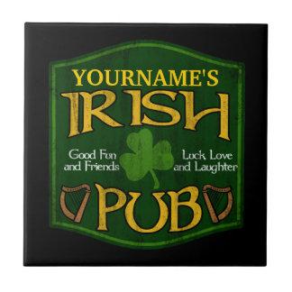 Muestra irlandesa personalizada del Pub Teja Ceramica