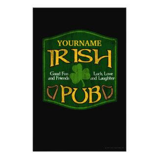 "Muestra irlandesa personalizada del Pub Folleto 5.5"" X 8.5"""