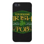 Muestra irlandesa personalizada del Pub iPhone 5 Carcasas