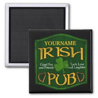 Muestra irlandesa personalizada del Pub Imán Para Frigorifico